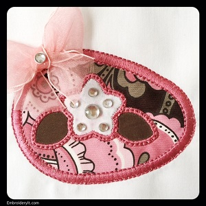 Applique Egg w Flower 2