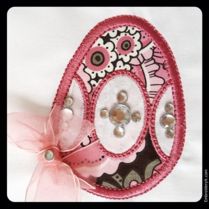 Applique Egg w Ovals 3