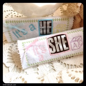 Embroidery It Baby Candy Bar Wrapper 13