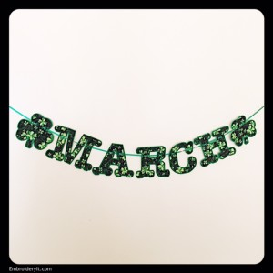 Embroidery It Banner Shamrock 2