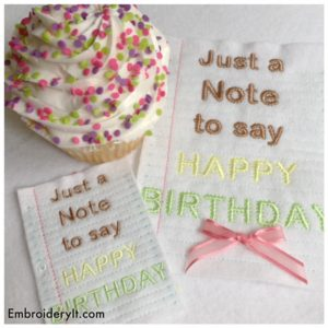 Embroidery It Birthday 2016 17