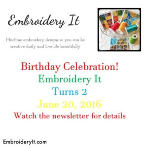 Embroidery It Birthday Celebration