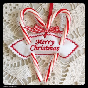 Embroidery It Candy Cane Holder 4