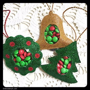 Embroidery It Christmas Candy Holder 1