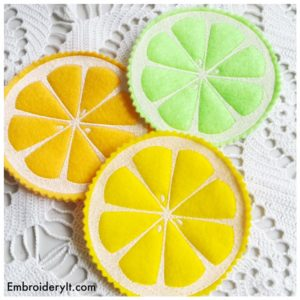 Embroidery It Citrus Coasters 3
