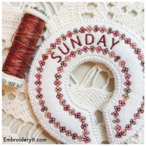 Embroidery It Closet Organizer Sunday 2