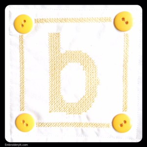 Embroidery It Cross Stitch Alphabet b