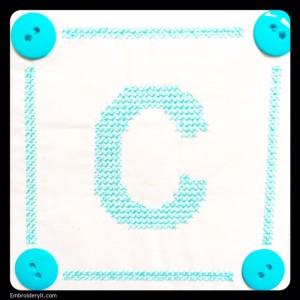 Embroidery It Cross Stitch Alphabet c