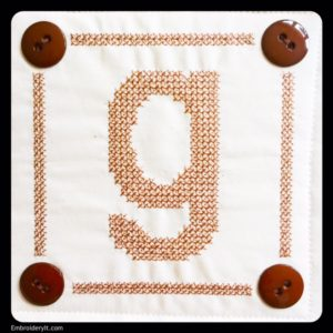 Embroidery It Cross Stitch Alphabet g