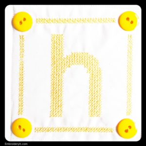 Embroidery It Cross Stitch Alphabet h