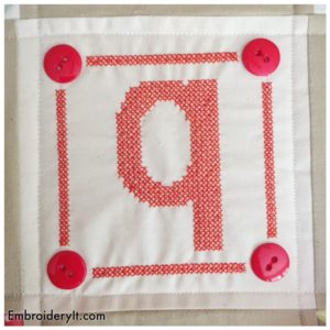 Embroidery It Cross Stitch Alphabet q