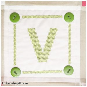 Embroidery It Cross Stitch Alphabet v
