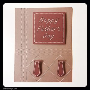 Embroidery It Father's Day Card 1