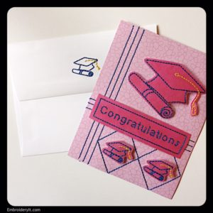 Embroidery It Graduation Card 2