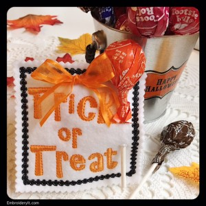 Embroidery It Halloween Lollipop Holder 3