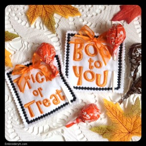 Embroidery It Halloween Lollipop Holder 4