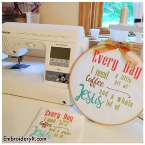 Embroidery It Need Coffee and Jesus 5