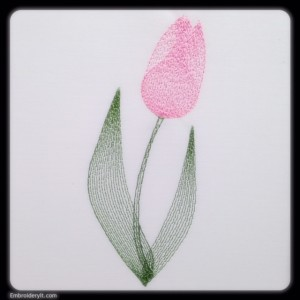 Embroidery It Painted Tulip 6
