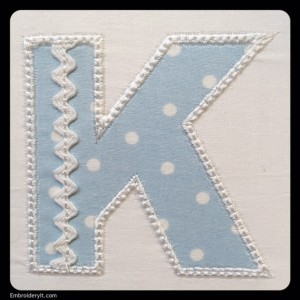 Embroidery It Rick Rack Alphabet K2