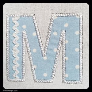 Embroidery It Rick Rack Alphabet M3