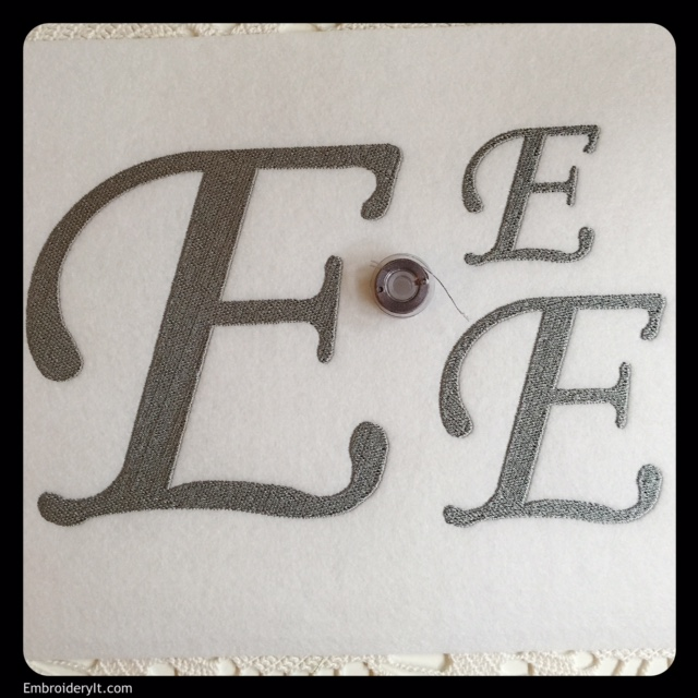 Oversized Letter E Machine Embroidery Design - Embroidery It