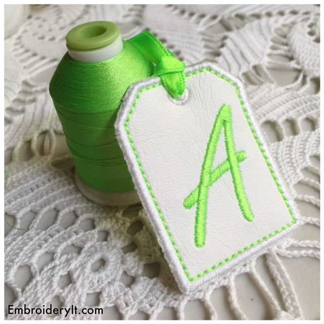 Free Machine Embroidery Tag Alphabet Set Begins Today