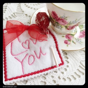 Embroidery It Valentine's Day Lollipop Holder 6