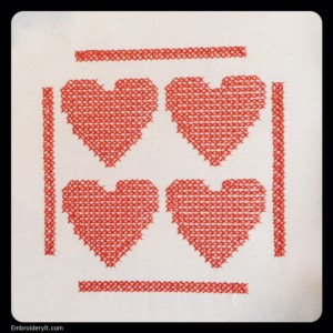 Embroidery it Cross Stitch Heart 1