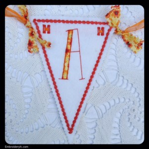 Let's Celebrate Banner Letter A by Embroidery It