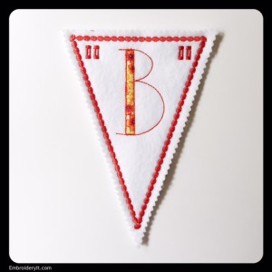 Let's Celebrate Banner Letter B by Embroidery It