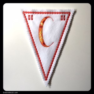 Let's Celebrate Banner Letter C by Embroidery It