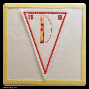 Let's Celebrate Banner Letter D by Embroidery It