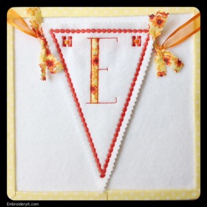 Let's Celebrate Banner Letter E by Embroidery It