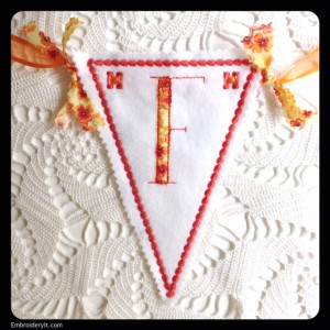 Let's Celebrate Banner Letter F by Embroidery It