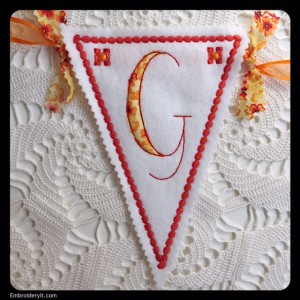 Let's Celebrate Banner Letter G by Embroidery It