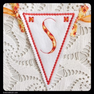 Let's Celebrate Banner Letter S by Embroidery It