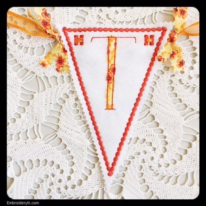 Let's Celebrate Banner Letter T by Embroidery It