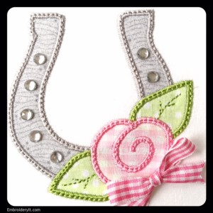 Single Horseshoe with Rhinestones