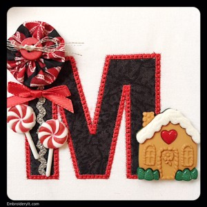 Embroidery It Rick Rack Alphabet Christmas M