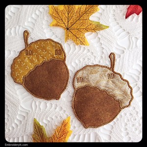 Embroidery It Banner Acorn 2