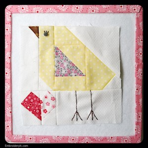 Embroidery It Farm Girl Vintage Baby Chick Block
