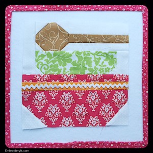Embroidery It Farm Girl Vintage Baking Day Block