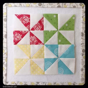 Embroidery It Farm Girl Vintage Pinwheels Block