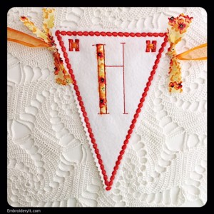 Let's Celebrate Banner Letter H by Embroidery It