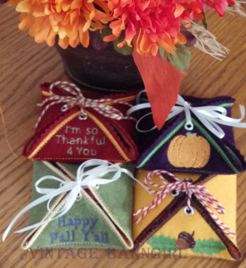 Fall Gift Box Set stitched by Vintage Farmgirl