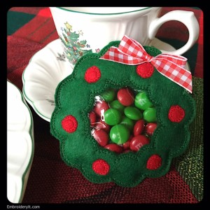 Embroidery It Christmas Candy Holder 7