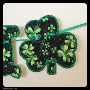 Embroidery It Banner Shamrock 4