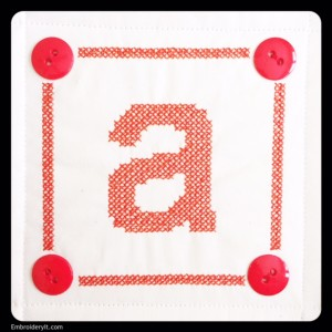 Embroidery It Cross Stitch Alphabet a 1