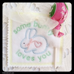 Embroidery It Easter Lollipop Holder 1