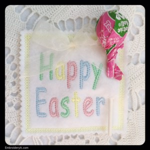 Embroidery It Easter Lollipop Holder 2